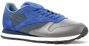 Reebok The Leather R12 Sneaker in Stash, Ultramarine, Athletic Navy, & Medium Grey