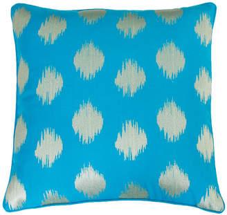 Co Jimco Lamp & Manufacturing Deniz Metallic Ikat Embroidered Pillow