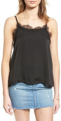 Women's Sun & Shadow Lace Trim Camisole $35 thestylecure.com