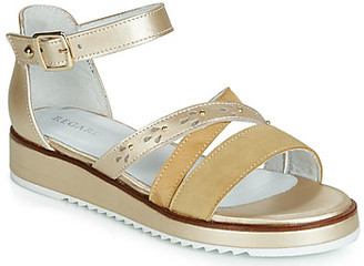 Regard RIKAZA V4 ANTE KAKI women's Sandals in Gold
