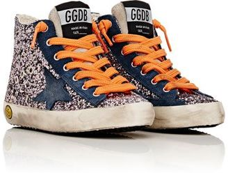 Golden Goose Distressed Glitter Francy Sneakers $228 thestylecure.com
