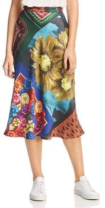 Moschino Mixed-Print Midi Skirt