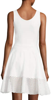 Chiara Boni Lelia Eyelet-Hem A-Line Mini Cocktail Dress