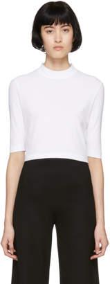 Rosetta Getty White Cropped T-Shirt