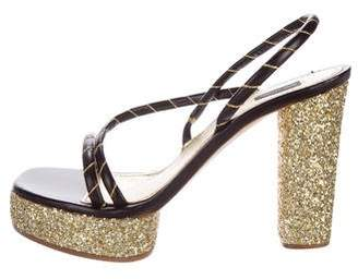 Marc Jacobs Glitter Slingback Sandals
