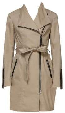 Mackage Women's Estela Belted Trench Coat - Sand - Size Small