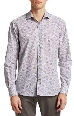 Saks Fifth Avenue COLLECTION Geometric Print Shirt