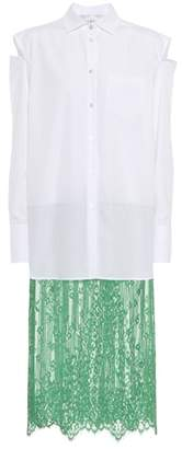 Valentino Lace-trimmed shirt dress