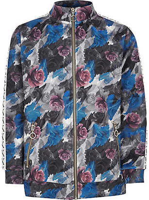 River Island Be Inclusive grey floral track jacket