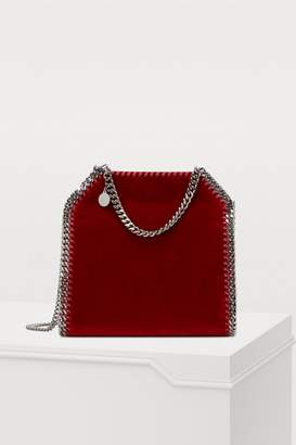 Stella McCartney Falabella velvet mini tote bag