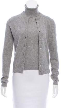 Hermes Cashmere Turtleneck Cardigan Set