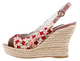 Louis Vuitton Floral Espadrille Wedges