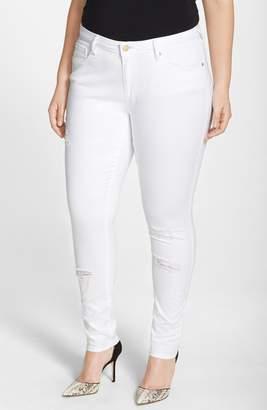 Justice Poetic 'Maya' Destroyed White Skinny Jeans