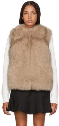 Yves Salomon Meteo Meteo Pink Fox and Rabbit Fur Vest