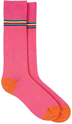 Paul Smith Men's Polka Dot Mid-Calf Socks $30 thestylecure.com