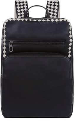 Bottega Veneta Intrecciato Checker Backpack