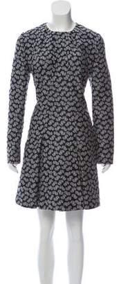 Stella McCartney Long-Sleeve Embroidered Dress