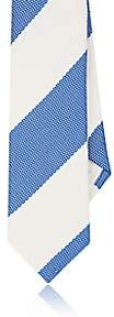 Paolo Albizzati PAOLO ALBIZZATI MEN'S STRIPED TEXTURED SILK NECKTIE-BLUE
