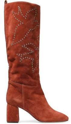 RED Valentino Eyelet-Embellished Suede Boots