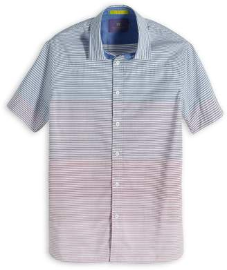 Scotch & Soda Gradient Striped Short Sleeve Sport Shirt