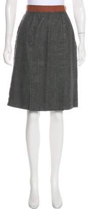 Dolce & Gabbana Wool-Blend Knee-Length Skirt