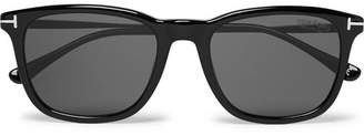 6f46bab2bda Tom Ford Square-Frame Acetate Polarised Sunglasses - Men - Black