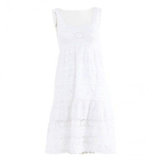 Oscar de la Renta White Linen Dresses