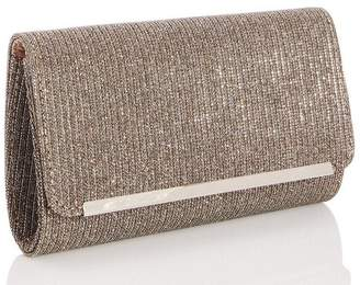 Quiz Bronze Shimmer Clutch Bag