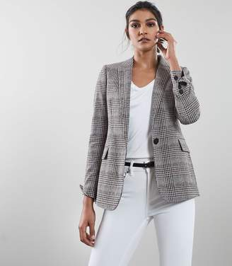 Reiss Our last order date for Christmas has now passed LIBI JACKET SLIM FIT BLAZER Grey