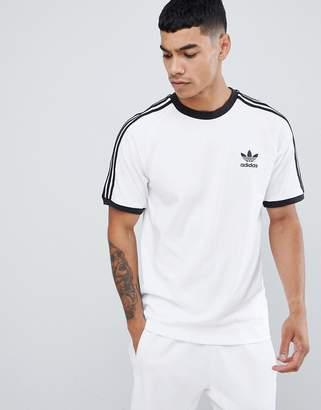 adidas adicolor California T-Shirt In White CW1203