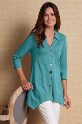 Soft Surroundings Danielle Button Top