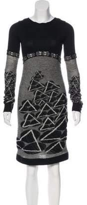 Chanel Paris-Moscou Intarsia Dress