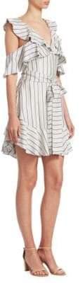 Zimmermann Painted Heart Ruffled Mini Dress