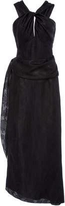 Derek Lam Twisted Halter-Neck Wrap Dress