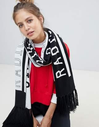 Monki slogan scarf