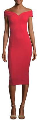 Chiara Boni Gena Off-the-Shoulder Sheath Dress
