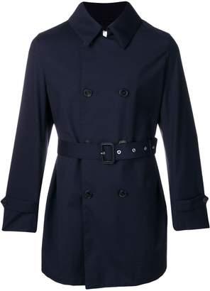 MACKINTOSH Navy Wool Storm System Short Trench Coat