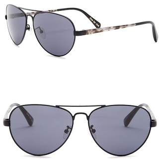 Toms Maverick 59mm Aviator Sunglasses