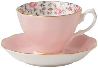 Royal Albert Rose Confetti Vintage Teacup and Saucer