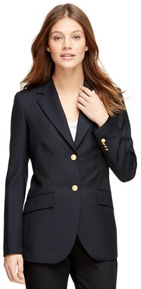 Brooks Brothers Petite Loro Piana Classic Fit Two-Button Blazer