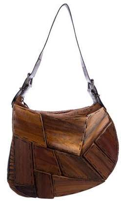 3289e91abf41 Pre-Owned at TheRealReal · Fendi Wood-Paneled Oyster Bag