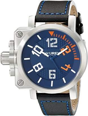 Haurex Italy Men's 6A508UON Gun Analog Display Quartz Black Watch