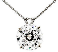 Diamonique 100 Facet 4 ct tw Pendant w/Chain, 1