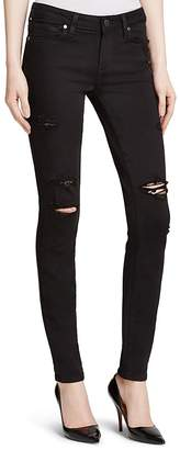 Paige Destructed Verdugo Transcend Jeans in Black Shadow