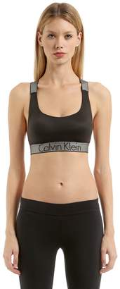 Calvin Klein Underwear Logo Band Nylon Sports Bra