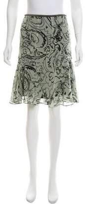 Etro Silk Knee-Length Skirt