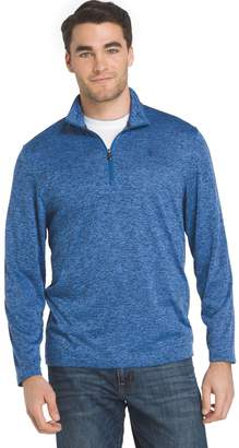 Izod Men's Advantage Sportflex Regular-Fit Marled Performance Quarter-Zip Pullover