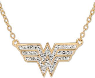 DC COMICS DC Comics Wonder Woman 14K Gold Over Silver Crystal Necklace