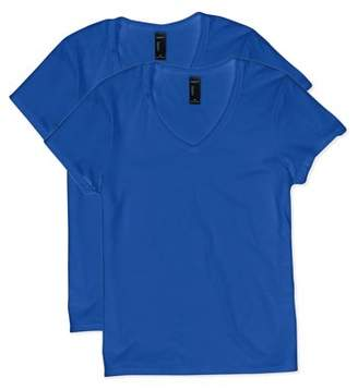 Hanes Women's Lightweight Nano-T Short Sleeve V-neck Tee (2-pack)