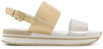 Hogan contrast strap sandals